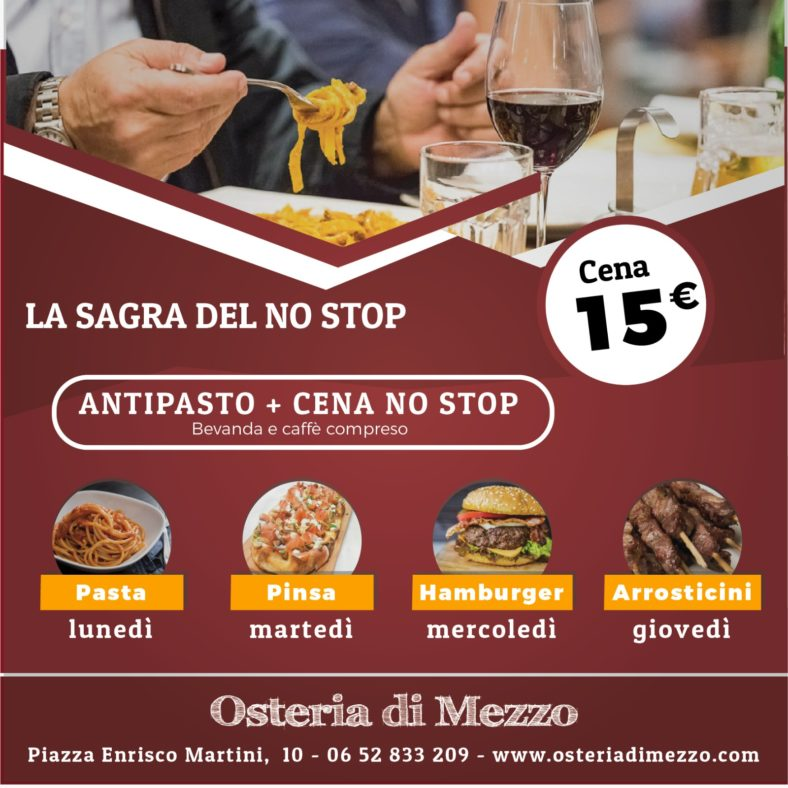 Flyer menu no stop
